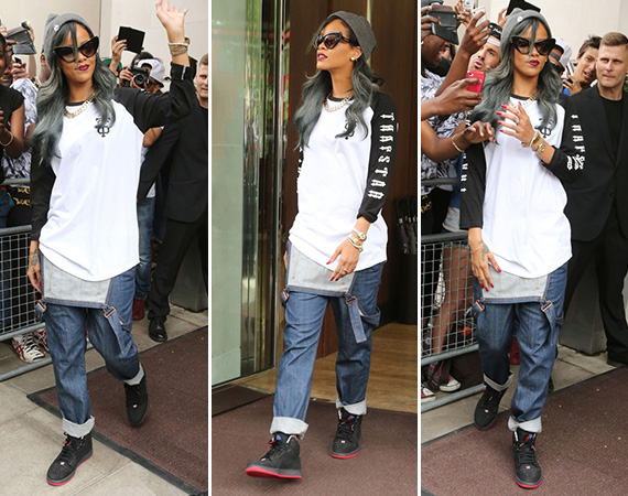 Rihanna in Air Jordan 1 93