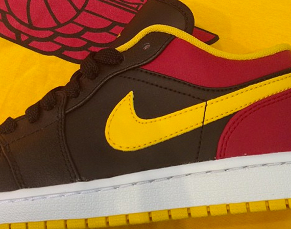 Air Jordan 1 Low: Black   Red   Yellow
