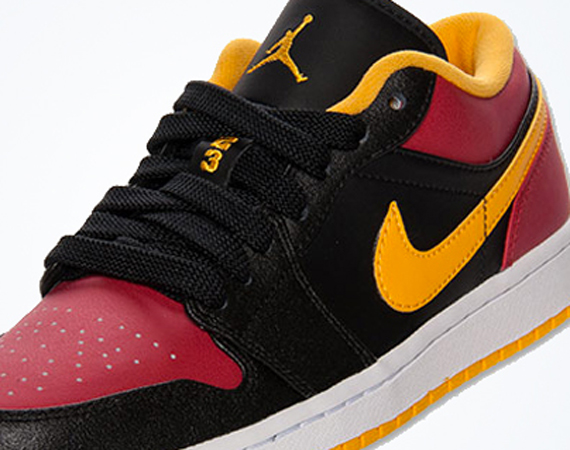 Air Jordan 1 Low: Black – Red – Yellow   Available