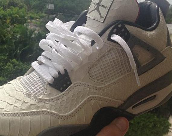 Air Jordan IV: White Snake by JBF Customs