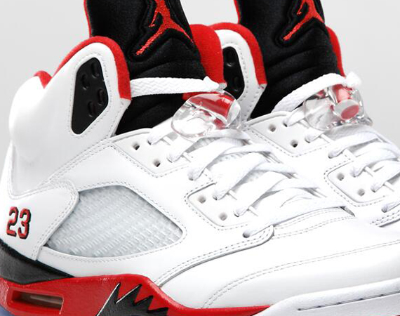 Air Jordan V: Fire Red   Official Image