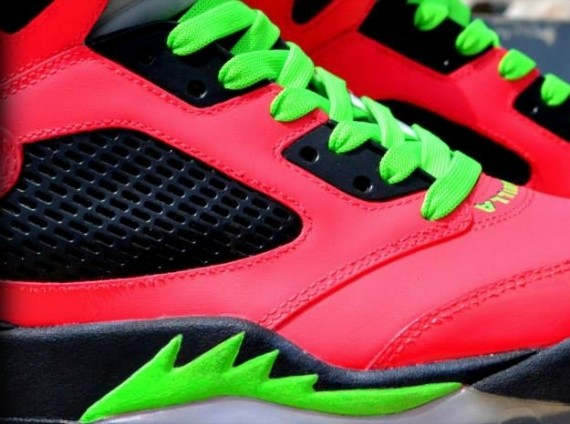 the air jordan v is already set up to have a huge remaining half of 2013 and with the spike in customs weve seen this sneaker hit with a number of