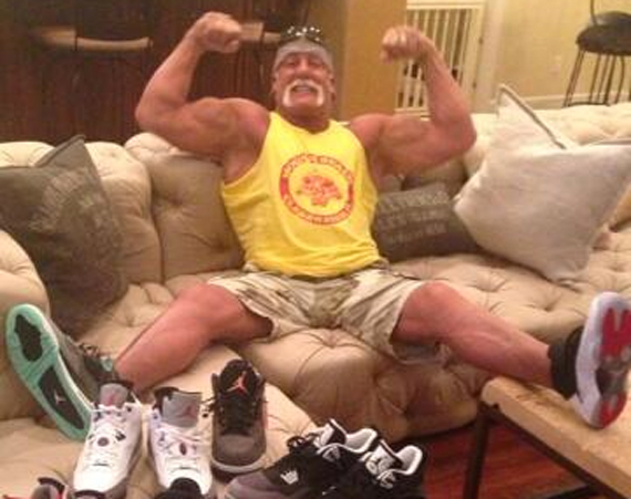 Hulk Hogan Shows Off Air Jordan Pick Ups