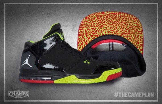Jordan Fire Red Volt Collection for The Game Plan by Champs Sports
