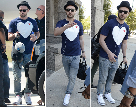 Justin Timberlake Wears Air Jordan III: White/Cement
