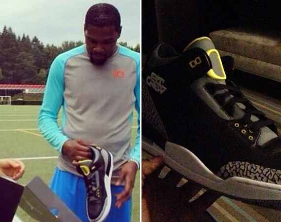 Kevin Durant Receives Air Jordan III Pit Crew