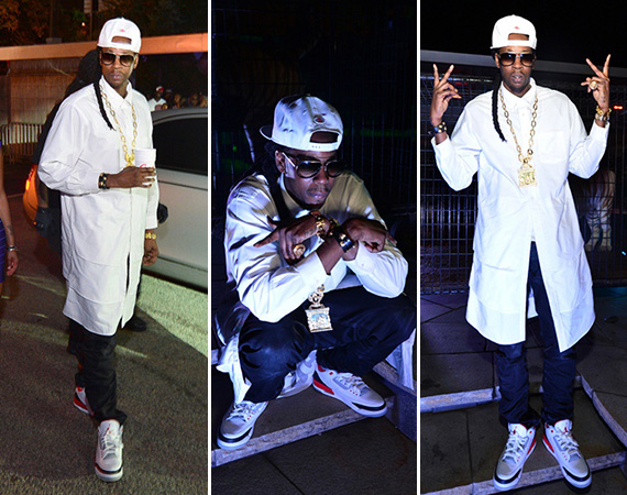 2 Chainz Wears Air Jordan III Fire Red at Album Release Party
