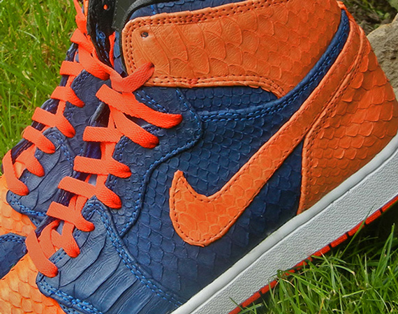 Air Jordan 1: Knicks Python by JBF Customs