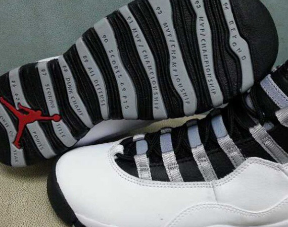 48c640aab80573 Air Jordan Retro X White   Black – Light Steel Grey