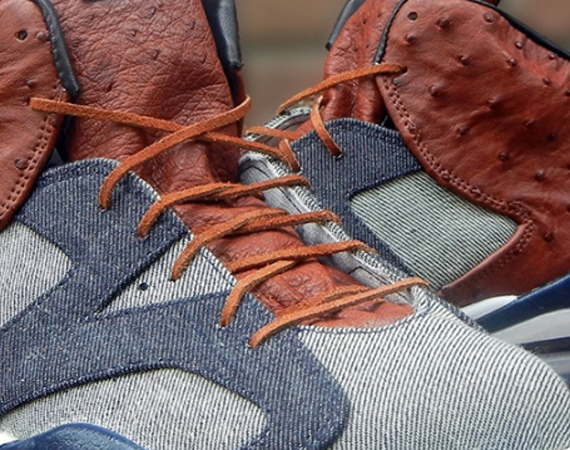 Air Jordan VI: Ostrich and Denim by JBF Customs