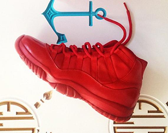Air Jordan XI: Red Customs by El Cappy