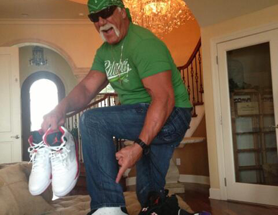 Hulk Hogan Shows Off More of His Air Jordan Collection