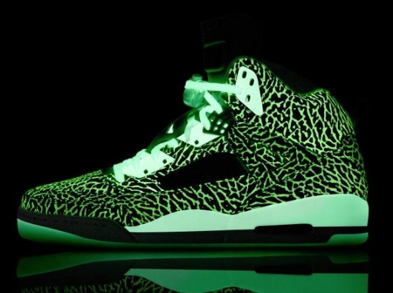 NIKEiD Jordan Spizike   Glow in the Dark Elephant Print | Available
