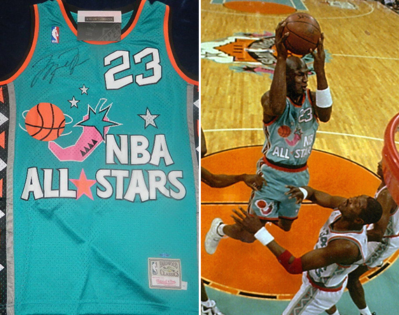 Vintage Gear: Michael Jordan 1996 All Star Game Autographed Jersey