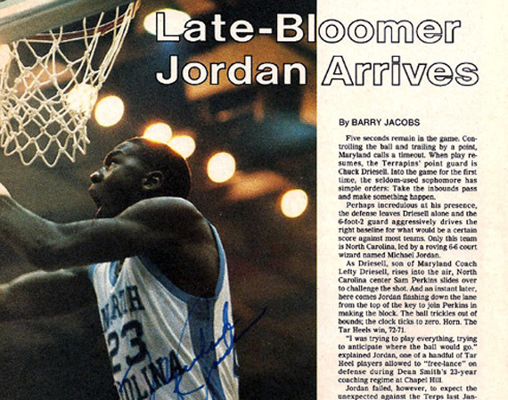 Vintage Gear: Michael Jordan Autographed Magazine Article