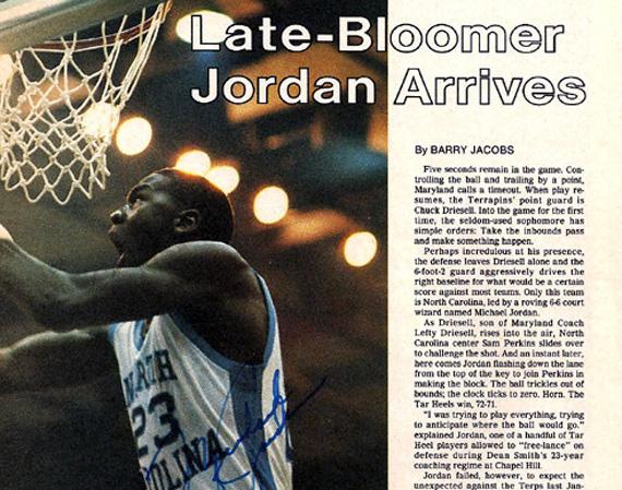 Vintage Gear: Michael Jordan Autographed Magazine Article