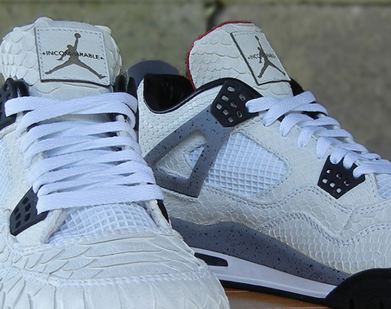 Air Jordan IV: White Python by JBF Customs