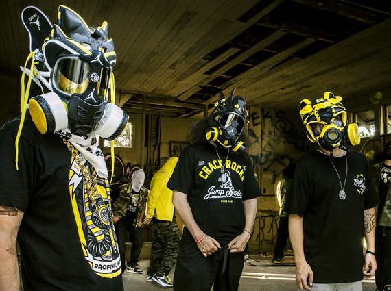 "Air Jordan ""Wu Tang Tribute"" Gas Masks by Freehand Profit"