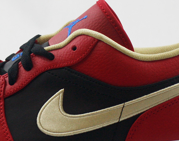 Air Jordan 1 Low: Gym Red   Game Royal   Metallic Gold