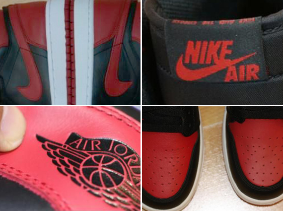 Air Jordan 1: Bred   Real vs. Fake Comparison