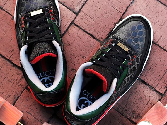"Air Jordan 3: ""Gucci"" by Dank Customs and Absolelute - Air Jordans, Release Dates & More"