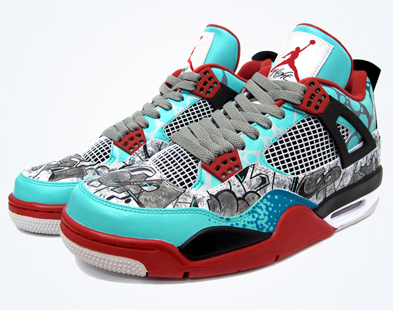Air Jordan IV: TIFFiti Customs by Sekure D