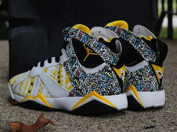 Air Jordan VII: Dreamcatcher Customs by Rocket Boy Nift