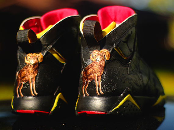 Air Jordan VII: Crude Blood Customs by Rocket Boy Nift