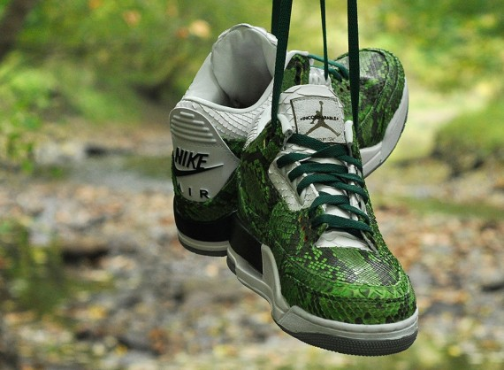 Air Jordan 3: Green Python by JBF Customs