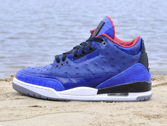 Incomparablue Air Jordan 3 by JBF Customs