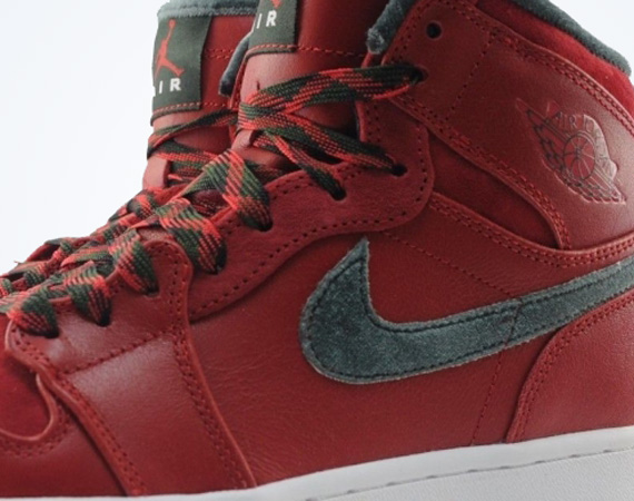 Air Jordan 1 Retro High Premier: Varsity Red   Dark Army