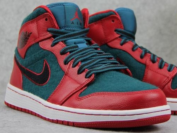 Air Jordan 1 Mid: Gym Red   Black   Dark Sea