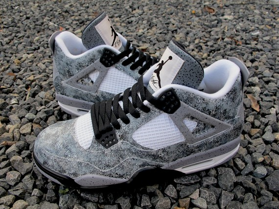 Air Jordan IV: Asphalt Customs by Sekure D