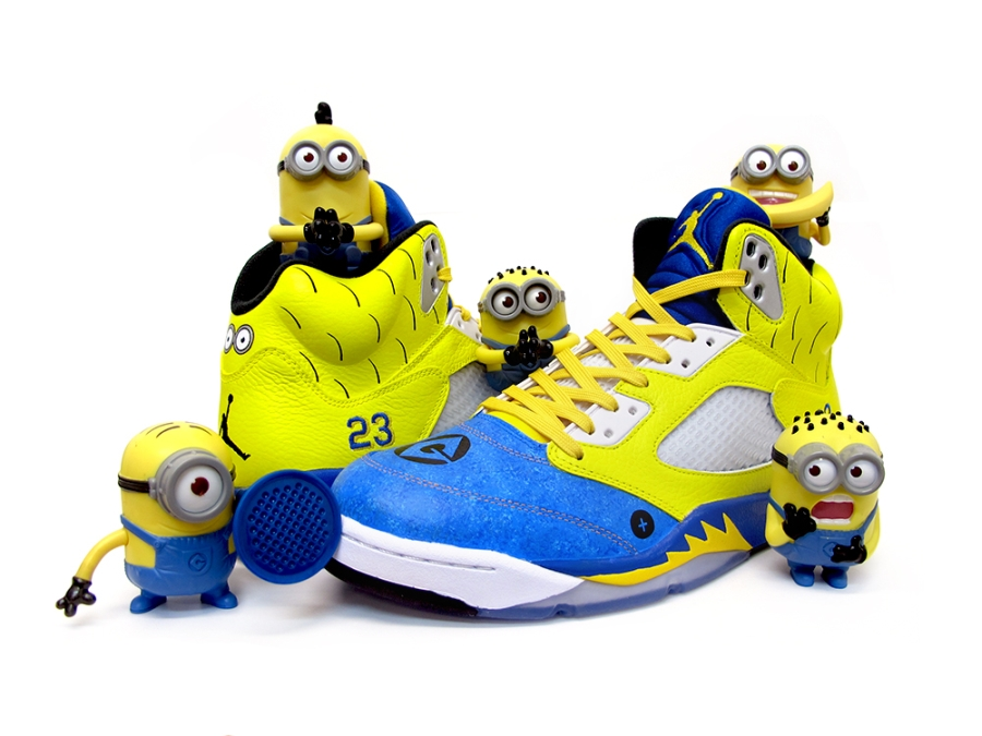 "best website c9fa3 ea1ba If the Air Jordan 5 ""Laney"" release wasn t enough yellow and blue for you,  then look no further than Sekure D s latest creation, as he draws  inspiration ..."