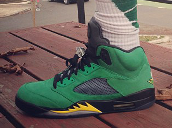 Air Jordan 5: Ducks On Feet
