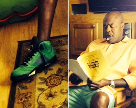 Chi McBride Wears Air Jordan V Ducks