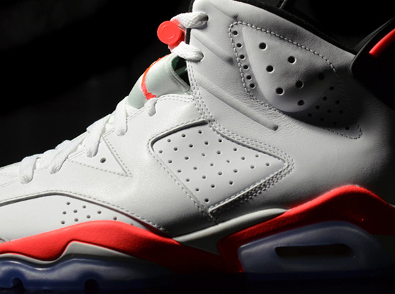 White/Infrared Air Jordan 6 Retro