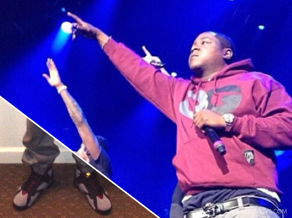 Jadakiss Wears Air Jordan VII Bordeaux