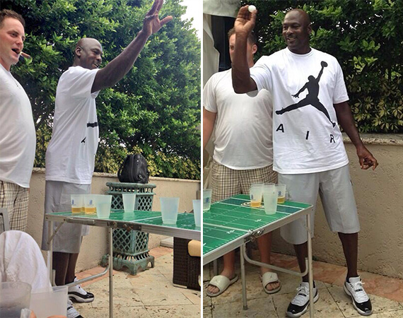 Michael Jordan Wears Air Jordan XI Low Concord