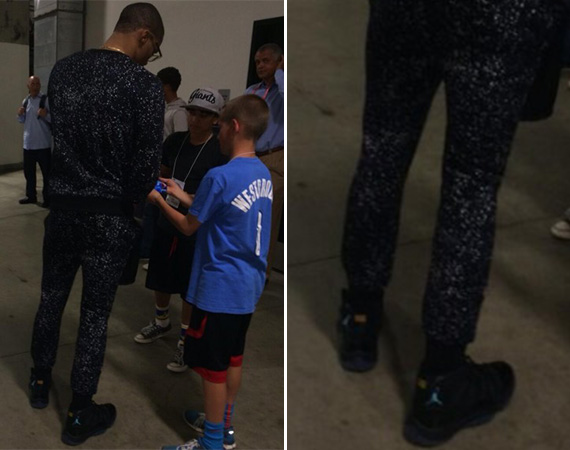 Russell Westbrook in Air Jordan 11 Gamma Blue