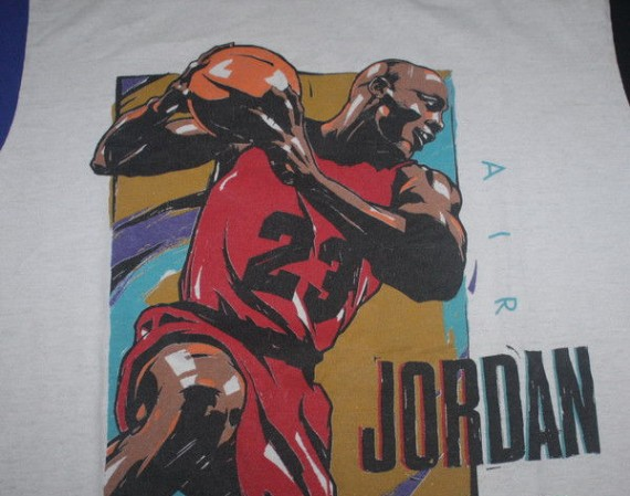 Vintage Gear: Nike Air Jordan Illustrated Cut & Sewn T Shirt