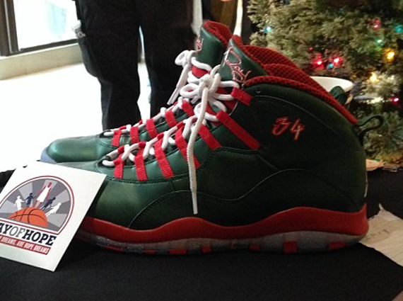 Air Jordan 10: Christmas PE for Ray Allen