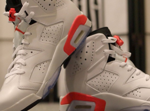 Air Jordan 6 Retro: White   Infrared