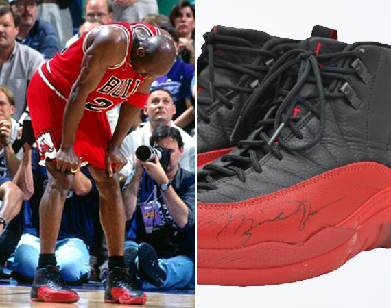 Michael Jordans Air Jordan 12 Flu Game Pair Sells for $104,765