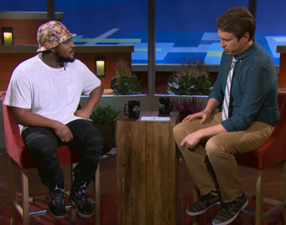 Schoolboy Q Wears Air Jordan 5 Doernbecher