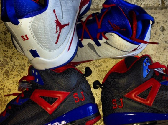 Stephen Jackson Showcases Jordan Brand Clippers PEs