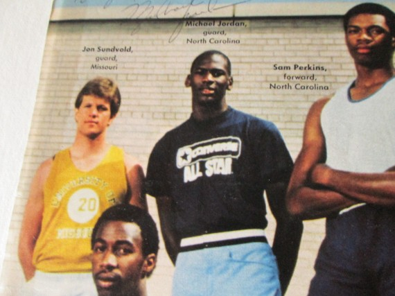 Vintage Gear: Michael Jordan Autographed Playboy 1982 1983 All America Team Insert