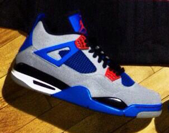 Air Jordan 4: Grey   Blue   Red | Unreleased Sample