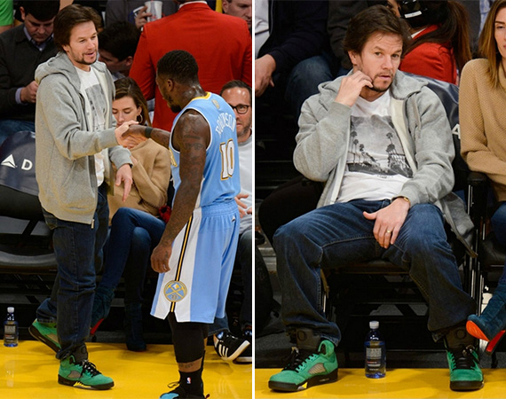Mark Wahlberg Wears Air Jordan 5 Oregon Ducks