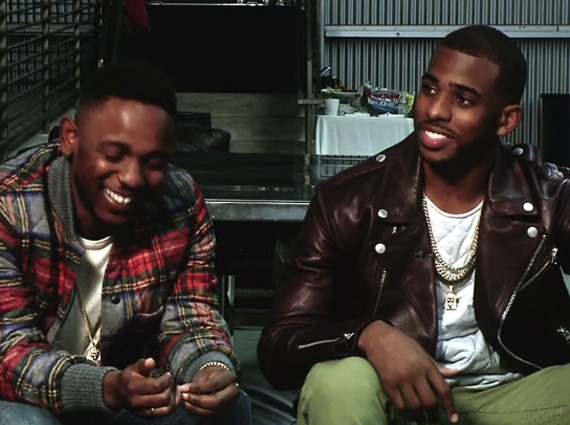 Chris Paul Talks with Kendrick Lamar for ESPN The Magazines Music Issue